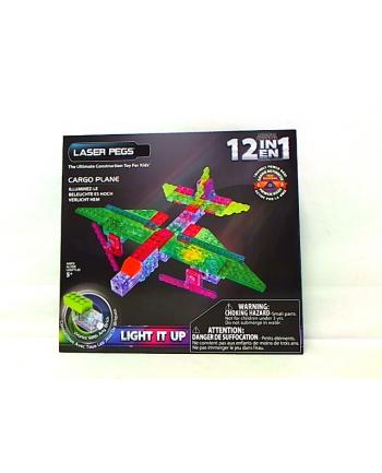 LASER PEGS 12w1 klocki samolot świecące G1670B