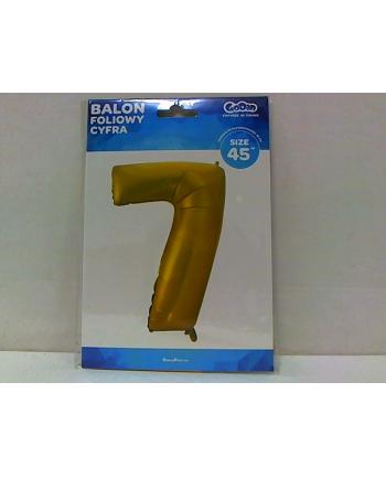 godan Balon foliowy Cyfra 7 złota 85cm HS-C45ZM7