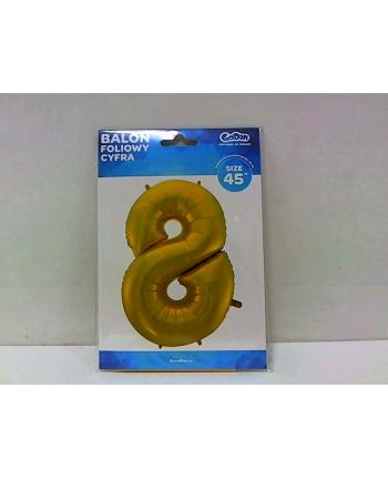godan Balon foliowy Cyfra 8 złota 85cm HS-C45ZM8