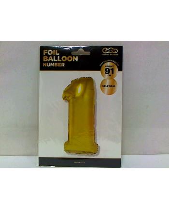 godan Balon foliowy Cyfra 1, złota, 85cm, FG-C85Z1