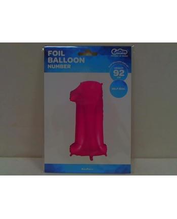 godan Balon foliowy cyfra 1, różowa 85cm, FG-C85R1