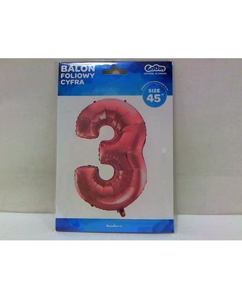 godan Balon foliowy Cyfra 3 różowa 92cm BC-HRO3