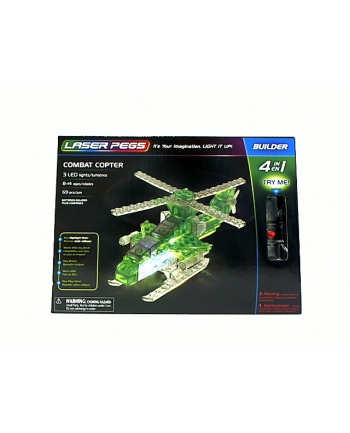 LASER PEGS 4w1 Combat Copter 41012