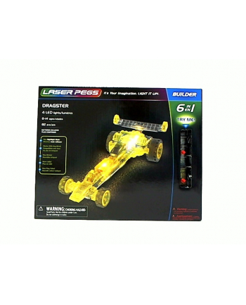 LASER PEGS 6w1 Dragster 61012