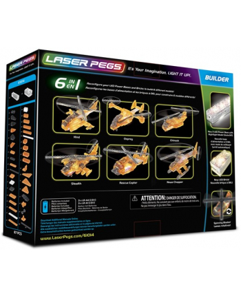 LASER PEGS 6w1 Rescue Copter 61014