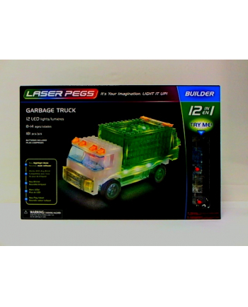 LASER PEGS 12w1 Garbage Truck 12013