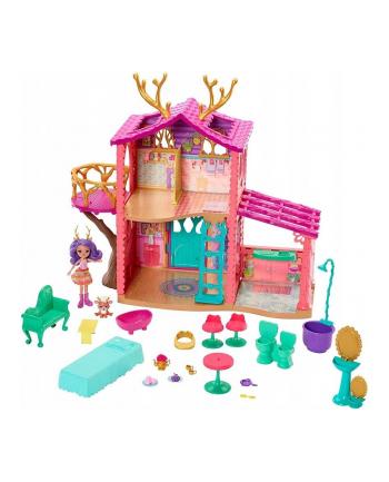 Mattel Barbie Enchantimals domek jelonków FRH50 /2 (w zestawie domek, lalka i zwierzak)
