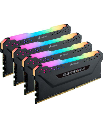 Corsair DDR4 32 GB 3000-CL15 - Quad-Kit - Vengeance RGB PRO Black