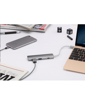 Verbatim USB-C Hub with HDMI - Grey