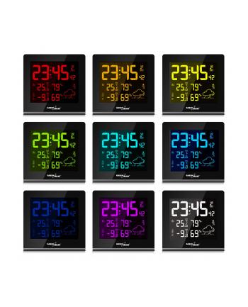 GreenBlue GB151 Stacja pogody bezprzewodowa 9 kolorów DCF VA LCD