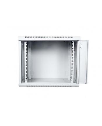 DIGITUS Szafka wisząca 19'' 12U, 600x600mm drzwi metalowe RAL7035