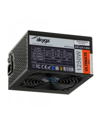 Akyga Ultimate ATX Power Supply 1250W AK-U4-1250 Fan14cm P8 12xPCI-E