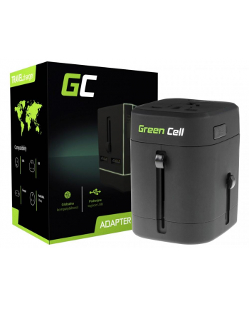 Travel Adapter Green Cell ALL-IN-ONE 150 | 2xUSB | 2xFuse