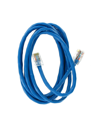 Patch cord RJ45 bez osłonki kat5e UTP 1.8m niebieski  retail