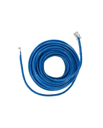 Patch cord RJ45 bez osłonki kat5e UTP 10m niebieski retail