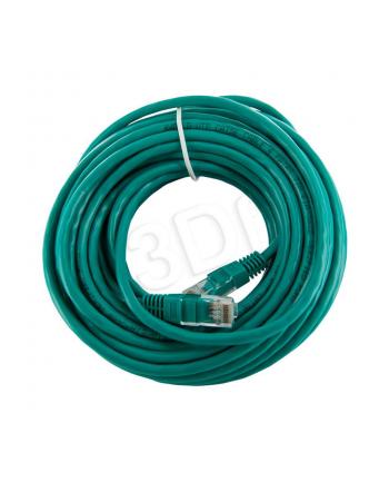Patch cord RJ45 bez osłonki kat5e UTP 10m zielon retail