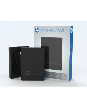 HP Dysk zewnętrzny SSD P600 500GB, 560/490 MB/s, USB Type-C