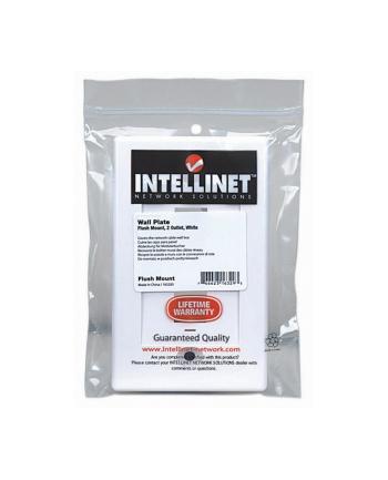 intellinet network solutions Intellinet 2-Portowy panel na modyły Keystone do puszki (PN 517874) biały