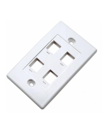 intellinet network solutions Intellinet 4-Portowy panel na modyły Keystone do puszki (PN 517874) biały