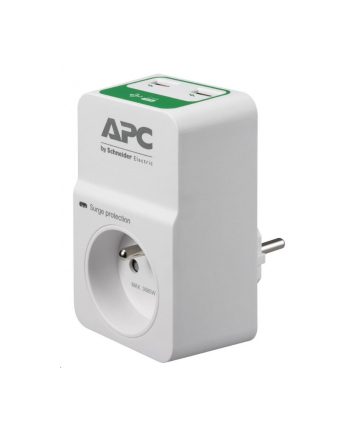 apc by schneider electric APC Essential SurgeArrest 1 Outlet 230V, 2 Port USB Charger, France