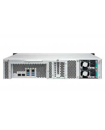 QNAP 12-Bay, 2U, RAID 0/1/5/6 (4GB RAM, Cortex-A57) + 10GbE SFP+; Redundant PSU