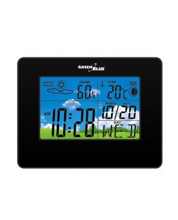 GreenBlue GB148B Stacja pogody zegar kalendarz fazy księżyca czarna
