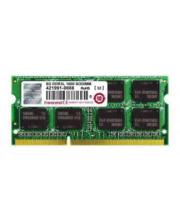 Transcend 8GB 1600MHz DDR3L Non-ECC CL11 SODIMM 2Rx8,1.35V