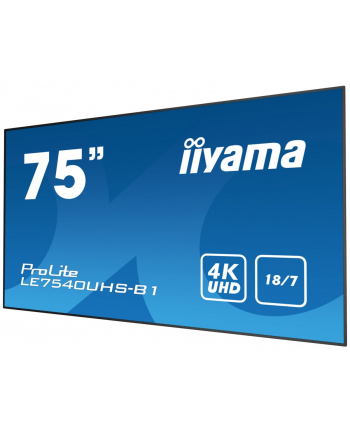 iiyama Monitor 75 LE7540UHS-B1 4K,OPS,18/7,LAN,IPS
