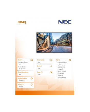 nec Monitor 86 MultiSync C861Q IPS 24/7 350cd/m2 3840x2160