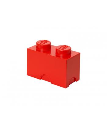 Pojemnik klocek LEGO® z 2 wypustkami (Bright Red)