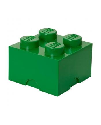 Pojemnik klocek LEGO® z 4 wypustkami (Dark Green)