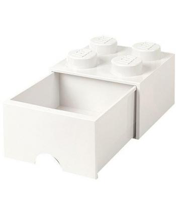 Szuflada klocek LEGO® z 4 wypustkami (White)
