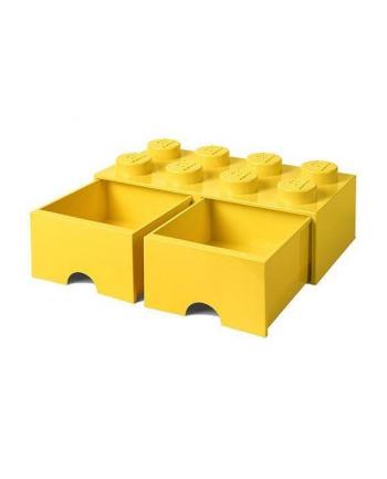 Podwojna szuflada klocek LEGO® z 8 wypustkami  (Bright Yellow)