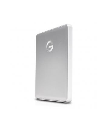 g-technology Dysk zewnętrzny G-DRIVE mobile USB-C, 2.5'', 2TB, USB 3.1, srebrny