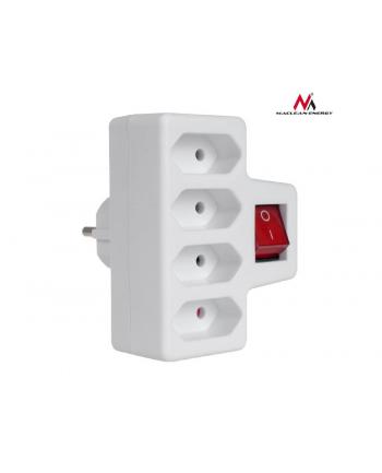 Maclean MCE217 Gniazdko prądowe poczwórne z wyłącznikiem 4x2,5A wtyk uniwersalny