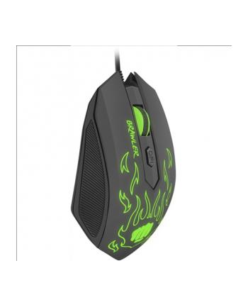 natec Fury Mysz optyczna dla graczy BRAWLER 1600 DPI podswietlenie