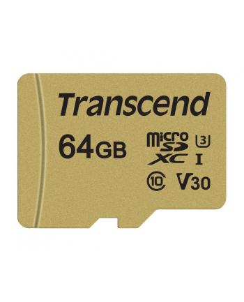 Transcend karta pamięci Micro SDXC 64GB Class 10 ( 95MB/s ) + adapter