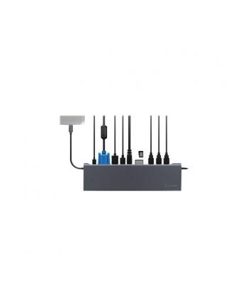 RaidSonic IcyBox Stacja Dokująca, USB Type-C, HDMI, miniDP, VGA