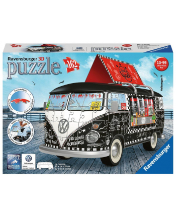 Puzzle 3D 162el VW bus T1 Food Truck 125258 RAVENSBURGER