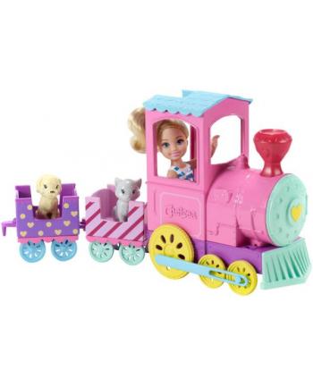 BRB Lalka Barbie Chelsea + pociąg ze zwierzakami FRL86 p3 MATTEL