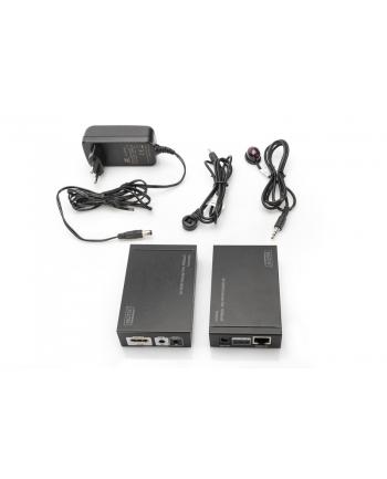 digitus Przedłużacz/Extender HDMI HDBaseT do 100m po Cat.5e, 4K 30Hz UHD, HDCP 1.4, IR, z audio (zestaw)