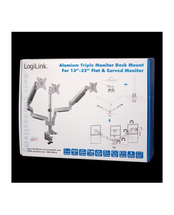 logilink Aluminiowy uchwyt na 3 monitory 13-27, max.8kg