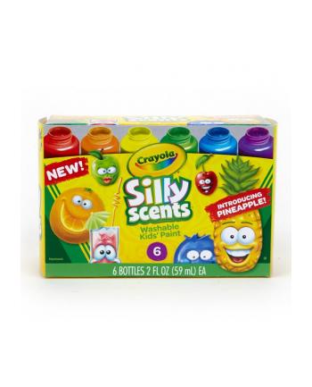 crayola Farby pachnące zmywalne Silly Scents 6 sztuk