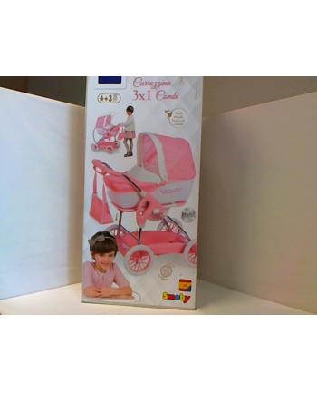 SMOBY Inglesina wózek głęboki 3w1+torba róż 250582