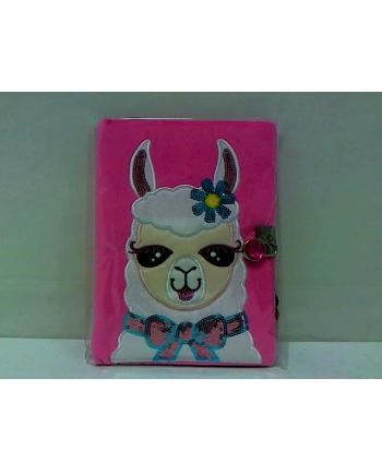 STNUX pamiętnik pluszowy lama STN2642