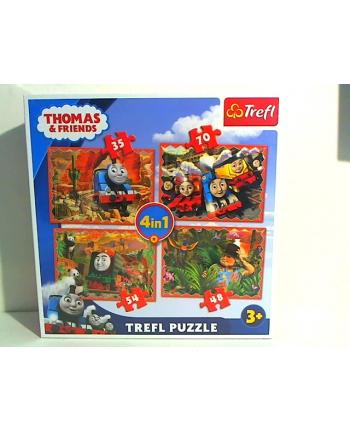 trefl Puzzle 4W1 PDRÓŻE PO ŚWIECIE 34300