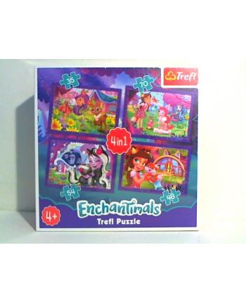 trefl Puzzle 4W1 ZABAWA Z PUPILAMI 34305