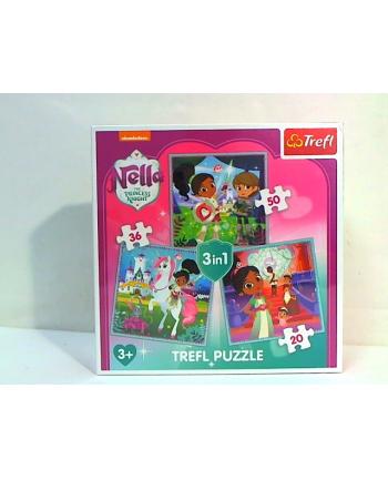 trefl Puzzle 3W1 RYCERKA BELLA I JEJ ŚWIAT 34835