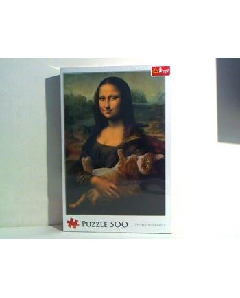 trefl Puzzle 500 MONA LISA I KOT MRUCZEK 37294