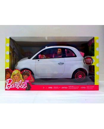 mattel Barbie auto dla lalki Fiat + lalka FVR07